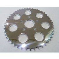Custom Chrome 85138 Chrome 51T Flat Rear Sprocket XL'86up