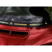 Custom Dynamics CD-CDWTSEQ14B LED DRL Windshield Trim w/Sequential Amber Turn/White Run & Smoke Lens Black for Touring 14-Up