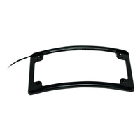 Custom Dynamics CD-LPFRADBLP Number Plate Frame Curved Low Profile Black