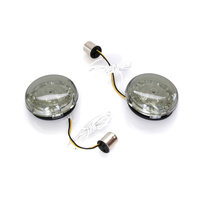 Custom Dynamics CD-PBAW1156 Turn Signal LED Inserts Amber w/White Run Light (Front or Rear) '02up (Pair)