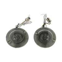 Custom Dynamics CD-PBAW1156T ProBeam LED Front Turn Signal Inserts w/Amber Turn/White Run & Smoke Lenses for most FL 86-Up Models