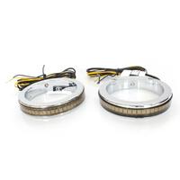 Custom Dynamics CD-WA49CC 49mm Billet Fork Wrap-Around Turn Signals Chrome w/Clear Lens Amber LED