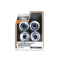 Colony Machine CM-2123-4 Riser Rubbers Washer Set Chrome '73up (4 Pack)