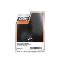 Colony Machine CM-2219-2 Button Head Points Cover Bolts Chrome for Sportster 04-Up