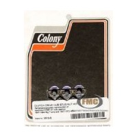 Colony Machine CM-2513-3 Clutch Hub Nuts Big Twin'47-84 4 Speed (3); 45's 1947-73 (Pk)