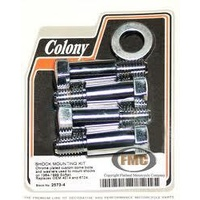 Colony Machine CM-2573-4 Shock Mounting Kit with Washers Softail 84-99 Custom Chopper Use