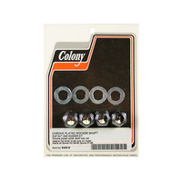Colony Machine CM-8400-8 Rocker Shaft Nuts Big Twin'66-84 & XL'57-85 Cap Style