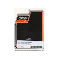 Colony Machine CM-8764-2 Points Cover Bolts Big Twin 70-78