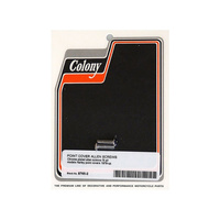 Colony Machine CM-8765-2 Points Cover Bolts Chrome for Big Twin 79-99