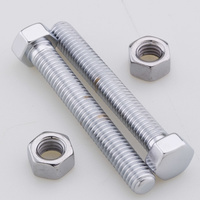 Colony Machine CM-8934-2 Axle Adjustment Bolts Softail'86-92 Chrome