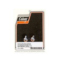 Colony Machine CM-9758-2 Fork Slider Drain Bolts FXST FXWG FL'77up-41mm Tubes (Pair)