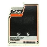 "Colony Machine CM-9909-2 Slider Drain Plug FL'49-E77 1/8""npt (Pair)"