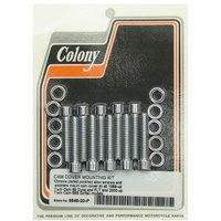 Colony Machine CM-9946-20-P Polished Allen Head Cam Cover Bolts Chrome for Twin Cam 99-17