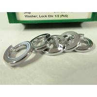 Colony Machine CM-9971-5 1/2 Lock Washers Chrome (5 Pack)