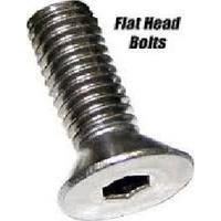 "Colony Machine CM-FHS-174 3/8-16 x 1"" UNC Polished Flat Head Allen Bolts Chrome"