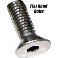 Colony Machine CM-FHS-182 Chrome Plated Flat Head Allen Bolts UNC 7/16-14x2 (Each)