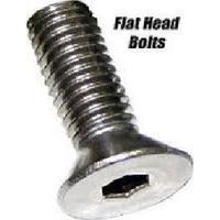 "Colony Machine CM-FHS-182 7/16-14 x 2"" UNC Polished Flat Head Allen Bolts Chrome"