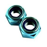 Colony Machine CM-NL-508 Chrome Nylon Insert Locknut UNC 1/4-20  (10 Pack)