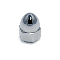 Colony Machine CM-PAN-163 Chrome Acorn Nut UNC 1/2-13 (Each)