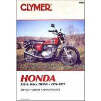 Clymer CM323 Honda 250-360CC Twins 1974-1977/ CB250GS/ CJ250T/ CB360/ CB360G/ CL360