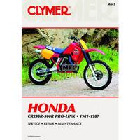 Clymer CM443 Honda CR250R-500R Pro-Link 1981-1987 (M443)