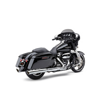 "Cobra USA COB-6108 4"" 909 Back Slash Slip-On Mufflers Chrome for Touring 17-Up"