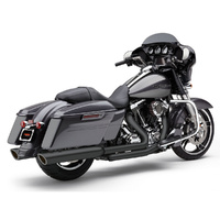 "Cobra USA COB-6108RB 4"" 909 Back Slash Slip-On Mufflers Black for Touring 17-Up"