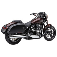"Cobra USA COB-6521 4"" NH Dual Cut Slip-On Muffler Chrome w/Black End Cap for Sport Glide 18-Up"