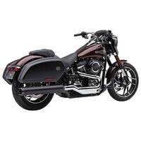 "Cobra USA COB-6521B 4"" NH Dual Cut Slip-On Muffler Black & Black End Cap for Sport Glide 18-Up"