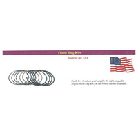 Cycle Pro CPL-28025M Piston Rings Twin Cam 99-06 +.005 88ci 1450cc Set Chrome USA Made