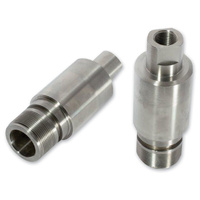 """Cycle Visions CV7122 2"""" x 49mm Fork Tube Extensions Kit Stainless Steel for FXCW/C ONLY (Pair)"""