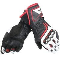 Dainese Carbon D1 Long Gloves Black/White/Fluro Red