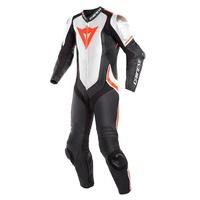 Dainese Laguna Seca 4 1 Piece Perforated Suit Black/White/Fluro Red