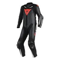 Dainese Laguna Seca 4 1 Piece Perforated Suit Black/Black/Fluro Red