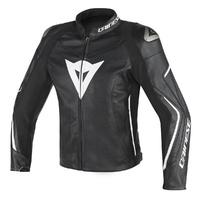 Dainese Assen Leather Jacket Black/Black/White
