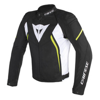 Dainese Avro D2 Tex Jacket Black/White/Fluro Yellow