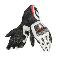 Dainese Full Metal D1 Gloves Black/White/Fluro Red