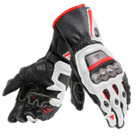 Dainese Full Metal 6 Gloves Black/White/Fluro Red