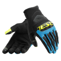 Dainese Bora Gloves Black/Fire Blue/Fluro Yellow