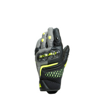 Dainese Carbon 3 Short Gloves Black/Charcoal-Grey/Fluro Yellow