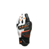 Dainese Carbon 3 Short Gloves Black/White/Flame-Orange