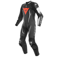 Dainese Misano 2 D-Air 1 Piece Perforated Suit Black/Black/White