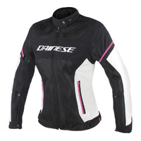 Dainese Air Frame D1 Ladies Textile Jacket Black/Vaporous Grey/Fuxia