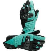 Dainese Carbon 3 Long Ladies Gloves Black/Aqua Green/Anthracite