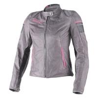 Dainese Michelle Ladies Leather Jacket Smoke/Black/Fuchsia