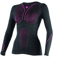 Dainese D-Core Thermo Long Sleeve Ladies Tee Black/Fuchsia