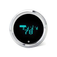 """Dakota Digital DAK-HLY-3015 2-1/16"""" Round Graphic Style KPH Speedometer w/Tachometer Indicators"""