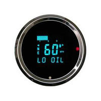 "Dakota Digital DAK-HLY-3016 3-3/8"" Round Speedo w/Tacho &"" w/Indicators Performance Style"