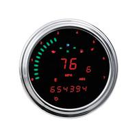 "Dakota Digital DAK-MCL-2011-R 4 1/2"" KPH Speedometer w/Tachometer & Red Graphics for Softail 11-2017/FLD/FXDC/FXDF 12-17/FLHR 14-Up"