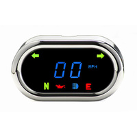 "Dakota Digital DAK-MCL-5400 3 1/2"" x 2"" Classic KPH Speedometer Chrome"